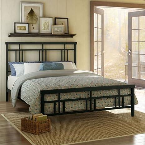 Cottage Full Metal Bed in Dark Brown