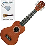 Soprano Ukulele with online beginner lessons included Sienna Brown