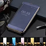VSHOP For Samsung J2 (2016) Model New Luxury Smart Clear View Mirror Flip Cover For Samsung J2 (2016) Black