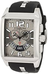 Stuhrling Original Men's 255A.331754 Leisure Mad Man C-2 Swiss Quartz Chronograph Date Silver Tone Watch