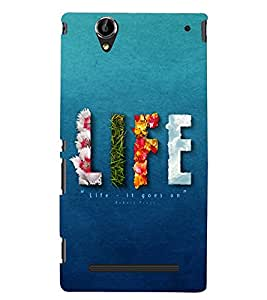 PRINTSHOPPII LIFE Back Case Cover for Sony Xperia T2 Ultra::Sony Xperia T2 Ultra Dual