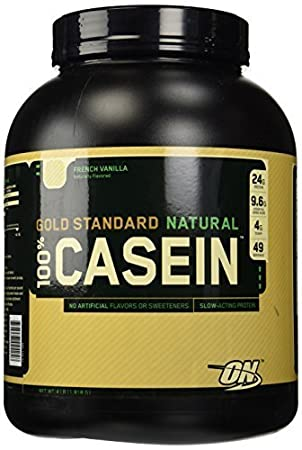 Optimum Nutrition Gold Standard Natural 100% Casein, French Vanilla 4lb Protein by Optimum Nutrition