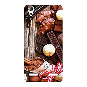 Chocolate Candies Multicolor Back Case Cover for Lenovo A6000 Plus