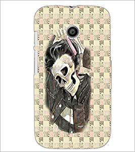 PrintDhaba Funny Image D-3746 Back Case Cover for MOTOROLA MOTO E (Multi-Coloured)