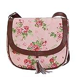 Lychee Bags Women Canvas Kay Sling Bag (LB23PK, Pink, Green)