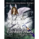 Enchantresses and Fair Folk: Fantasy Coloring Book (Enchanted Colors) (Volume 3)