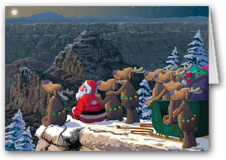 Grand Canyon Christmas Card 12 cards/ 13 envelopes