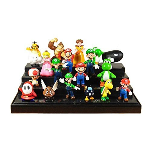 Oliasports Super Mario Brothers Action Figures Set (18 Piece), 2