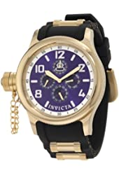 Invicta Men's 1802 Russian Diver Blue Dial Black Polyurethane Watch