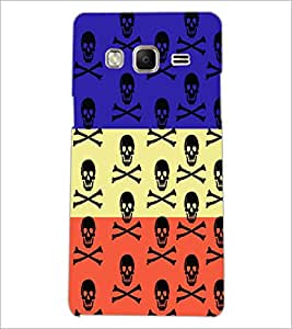 PrintDhaba Skull D-3228 Back Case Cover for SAMSUNG Z3 (Multi-Coloured)