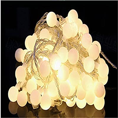 10M led string lights with 50led ball AC220V holiday decoration lamp Festival Christmas lights outdoor lighting (3 colors in one pack, Warm White, RGB, White).