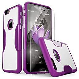 iPhone 6s Case, SaharaCase [Protective Kit Bundle] Purple with ZeroDamage [TEMPERED GLASS SCREEN PROTECTOR] Slim fit Rugged hard back panel TPU Shockproof bumper for iPhone 6 (2014) / 6s (2015)