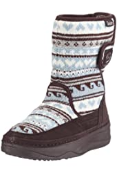 Skechers Women's Tone-Ups Chalet- Carve Midhigh Sweater Puff Boot