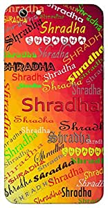 Shradha (Popular Girl Name) Name & Sign Printed All over customize & Personalized!! Protective back cover for your Smart Phone : Apple iPhone 4/4S