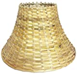 "9"" Round Slanting Cane Lamp Shade for Table Lamp"