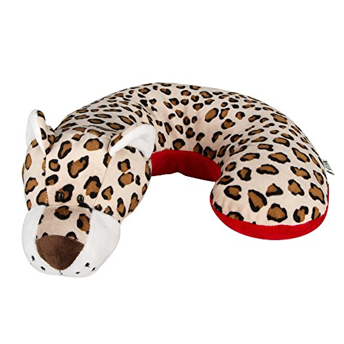 Animal Planet Kid's Neck Support Pillow, Leopard, Toddler Car Seat Pillow, Baby Head Support, Child Travel