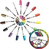 Sharpie Paint Marker Medium Point Oil Based All 15 Color Set FREE Color Wheel