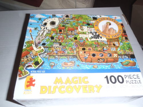 "MAGIC DISCOVERY ""Pirate Island"" RUB AND REVEAL 100 PIECE PUZZLE - 1"