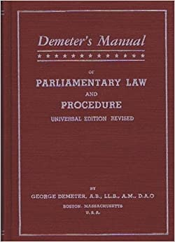 Parliamentary Procedure (Quickstudy Reference Guides ...