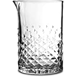 Libbey Glass Studded Mixing Glass with Julep Strainer & Pourer - 750 ml