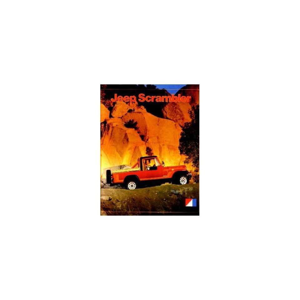 1981 Jeep Scrambler Sales Brochure Literature Book Piece Options Colors Specs
