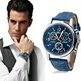 Bessky® Luxury Fashion Crocodile Faux Leather Mens Analog Watch Watches