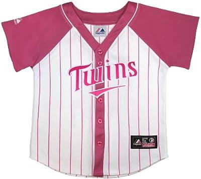 MLB Youth Minnesota Twins Girl's Fashion Replica Jersey, White