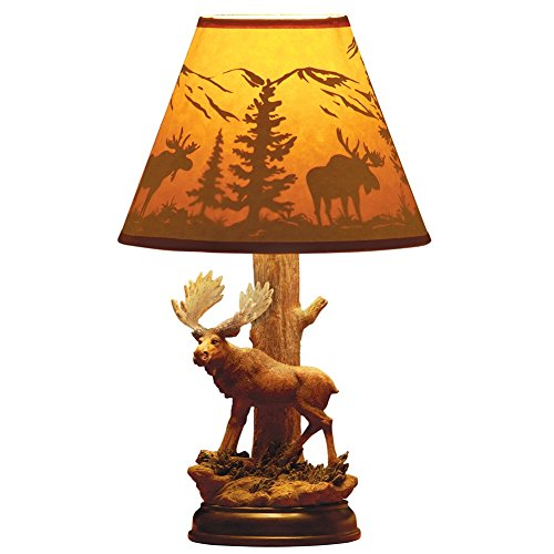 Woodland Majestic Moose Table Lamp