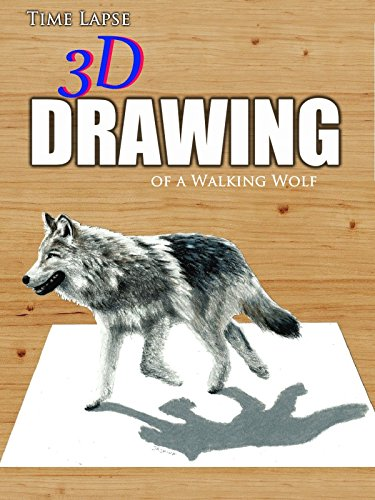 Time Lapse 3D Drawing of a Walking Wolf