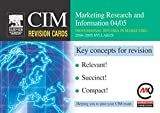 img - for CIM Revision Cards: Marketing Research and Information 04/05 book / textbook / text book