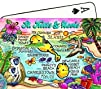 St.Kitts   Nevis Map Collectible Souvenir Playing Cards