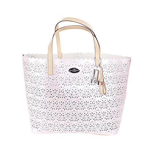 Coach Metro Eyelet Leather Tote Bag W Wristlet F27544 Shell Pink