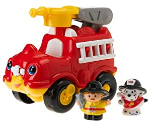 fisher price little people lil 39 mover fire truck toys games. Black Bedroom Furniture Sets. Home Design Ideas