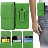 ITALKonline Nokia 3330 PU Leather GREEN Vertical Executive Side Wallet Pouch Case Cover with Belt Loop