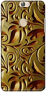 The Racoon Lean printed designer hard back mobile phone case cover for Coolpad Max. (gold weave)