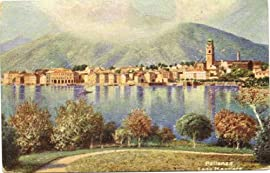 1910 Vintage Postcard Panorama of Lago Maggiore Pallanza Italy