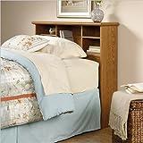 Sauder Orchard Hills Twin Bookcase Headboard Carolina Oak