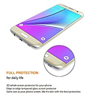 JOYLINK Samsung Galaxy S7 Edge Mirror Tempered Glass Touch 3D Curved Full Screen Protector, Gold by JOYLINK