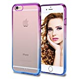 iPhone 6s Case, Vofolen iPhone 6s Cover Colorful Clear Slim Case Translucent Impact Resistant Protective Hard Shell Flexible TPU Soft Bumper Thin Case for iPhone 6 6S 4.7 inch (Purple Blue)
