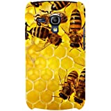 For Samsung Galaxy S3 Mini I8190 :: Samsung I8190 Galaxy S III Mini :: Samsung I8190N Galaxy S III Mini Honey Bee ( Honey Bee, Beehive, Beautiful Bee, Nice Beehive ) Printed Designer Back Case Cover By FashionCops