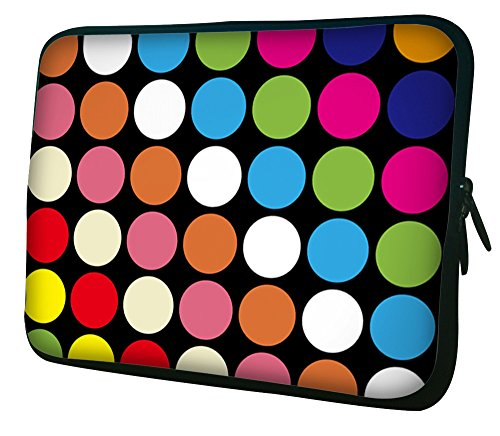 """Waterfly® Colorful Spots 15"""" 15.4"""" 15.6"""" Inch Laptop Notebook Computer Netbook Soft Neoprene Sleeve Bag Case Cover Pouch Holder for Apple Macbook Pro 15 Macbook Air 15.4"""" Samsung R580 HP Envy 15z Panasonic Toughbook CF-52 Mk1 HP Beats 15-p071nr Signature"""
