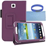 Iwotou Purple PU Leather Stand Case Cover with Stylus Slot Holder Design for Samsung Galaxy Tab 3 7.0 Inch Tablet + Accessories Free Offered By Manufacturer