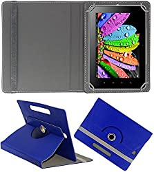 DMP 360 Degree Rotating Leather Flip Case Book Cover With Stand For Zomo Sprint Max 4 GB - Dark Blue