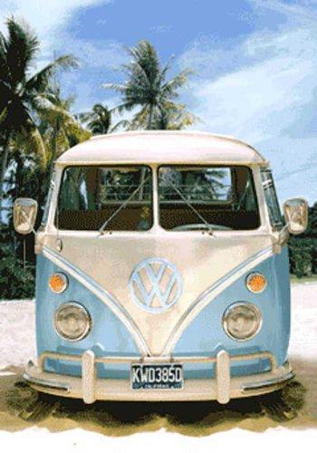 Volkswagen VW Bus Poster 3D lenticolare Auto Classic - Dimensioni 47 x 67 cm