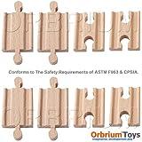 Orbrium Toys Male-Male Female-Female Wooden Train Track Adapters Fits Thomas Brio Chuggington, Set of 8