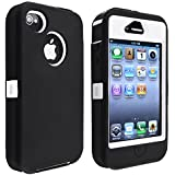 eForCity Insten Hybrid Case for Apple iPhone 4/ 4S - Retail Packaging - Black
