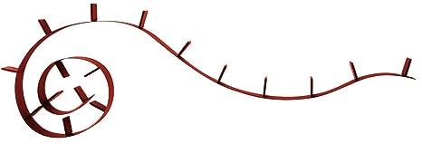 Kartell Bookworm 820 cm de largo 17 de efecto invernadero de diseño 8008C8 bordeaux ópalo Ron Arad