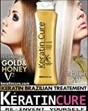 Keratin Brazilian Hair Treatment Keratin Cure Gold & Honey VERSION 2 Brazilian Hair Straightener 1000ml 34.81 fl oz Original Formula