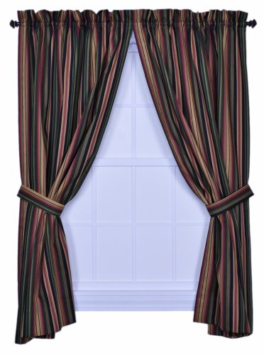 Best Ellis Curtain Montego Stripe 82 Inch By 84 Inch