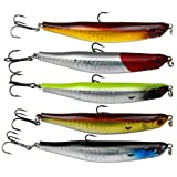 5pcs 8g/9cm Lure Fishing Bent Gizzard Shad Pencil Floating Dancing Flutter Baits